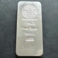 Stříbrný slitek Argor Heraeus 1000 g