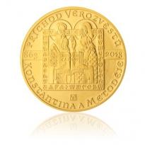 Zlatá mince Konstantin a Metoděj 1 Oz - /proof/