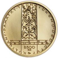 Zlatá mince Větrný mlýn v Ruprechtově 1/4 Oz - /b.k./