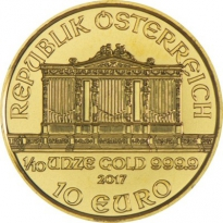 Zlatá mince Wiener Philharmoniker 1/10 Oz