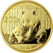 Zlatá mince Panda 1/2 Oz- 2011+2012+2013