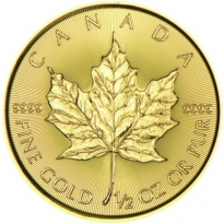 Zlatá mince Maple Leaf 1/2 Oz